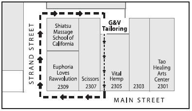 G & V Tailoring Vital Hemp Entrance Map